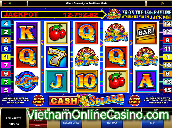 Cash Splash 5 Reel Slots