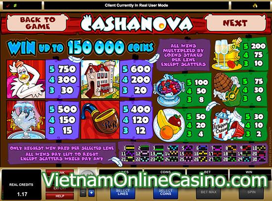 Cashanova Slots - Payline
