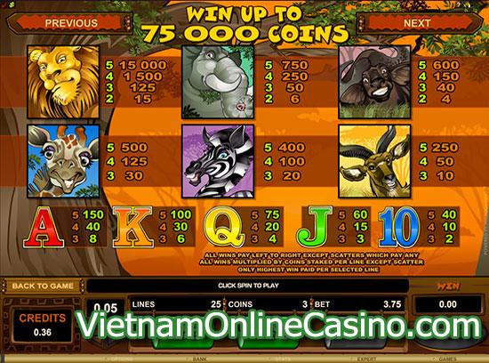 Mega Moolah Slot - Payline