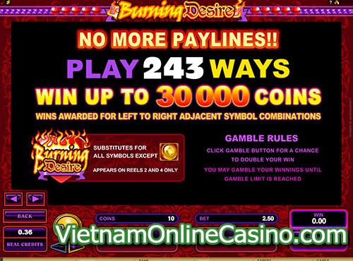 Burning Desire Slot Symbol Bonus
