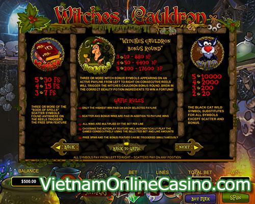 Witches Cauldron Slot Bonus