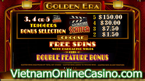 Golden Era Slot Free Spin Bonus