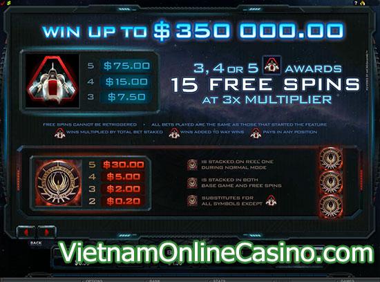 Battlestar Galactica Slot Free Spins